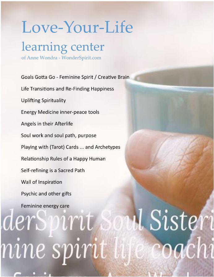 Love-your-Life learning center of Anne Wondra - WonderSpirit.com